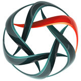Swirl 3d lines icon such. Abstract icon of red and grey 3d lines, image isolated vector illustration