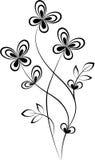Swirl. Black Swirl shape isolated on white background Stock Images