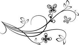 Swirl. Black Swirl shape isolated on white background Royalty Free Stock Photos