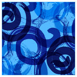 Swirl abstract background. With blue color dominant Royalty Free Stock Image