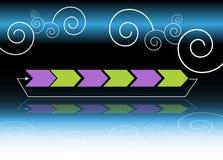 Swirl Arrow Chart. An image of a business arrow chart with swirls Stock Photography
