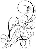 Swirl art design. Swirl simple art calligraphy design elements, black colored.Each of them group singly Royalty Free Stock Photo