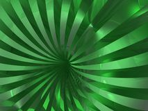Swirl background. 3d green reflection swirl background Royalty Free Stock Image