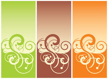 Swirl background. In three beautiful colours Royalty Free Stock Image