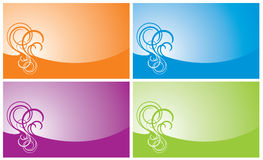 Swirl background. In four beautiful colours Stock Photography