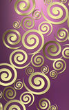 Swirl background. An elegant, modern art deco background made up of raised swirls rendered in metallic tones Stock Photos