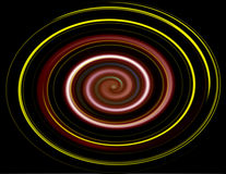 Swirl Background. Colorful swirl over black background.Abstract Illustration Royalty Free Stock Image