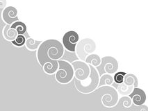 Swirl background. Abstract background of swirl curls Stock Photos