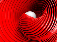 Swirl background. Abstract 3d spiral or twirl in red toned Stock Photos