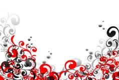 Swirl baksidt royaltyfri illustrationer