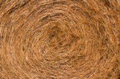 Swirl of baled hay. Swirled baled hay, up close Stock Photos