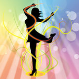 Swirl Ballet Represents Young Woman And Twist Royalty Free Stock Photography