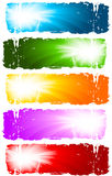 Swirl banners Stock Photography
