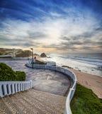 Swirl. Beach view, Santa Cruz, Portugal Stock Photography