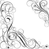 Swirl black corner design Royalty Free Stock Photo