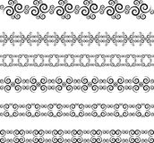 Swirl border Royalty Free Stock Image