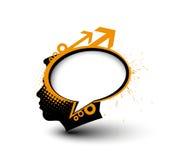 Swirl brain design Royalty Free Stock Images