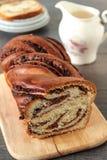 Swirl Brioche with chocolate Stock Photos