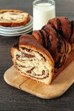 Swirl Brioche with chocolate Royalty Free Stock Photos