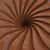 Swirl of brown lines, 3D Royalty Free Stock Photo