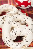 Swirl buns and tea Stock Image