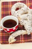Swirl buns and tea Stock Images