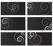 Swirl business cards Royalty Free Stock Images