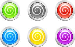 Swirl Button. [Vector] Royalty Free Stock Photography