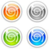 Swirl buttons. Stock Image