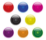 Swirl Buttons Stock Image