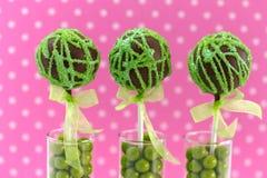 Swirl Cake Pops Royalty Free Stock Photography