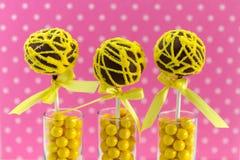 Swirl Cake Pops Stock Images