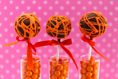 Swirl Cake Pops Royalty Free Stock Photography