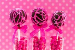Swirl Cake Pops Stock Photography