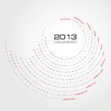 Swirl calendar 2013 Stock Photography