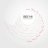 Swirl Calendar 2014 Royalty Free Stock Photography