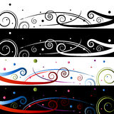 Swirl Celebration Banner Set Stock Photos