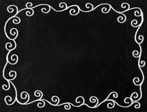 Swirl Chalkboard Border Royalty Free Stock Photography