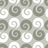 Swirl checkered seamless pattern Royalty Free Stock Images