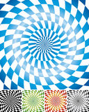 Swirl chessboard background Stock Images