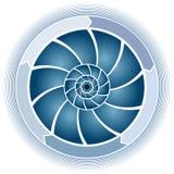 Swirl Circle Chart Royalty Free Stock Image