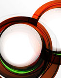 Swirl and circles, futuristic geometrical abstract background Royalty Free Stock Image