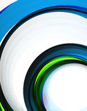 Swirl and circles, futuristic geometrical abstract background Royalty Free Stock Photography