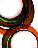 Swirl and circles, futuristic geometrical abstract background Royalty Free Stock Photos