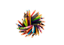 Swirl of Color Pencils royalty free stock image
