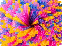 Swirl colorful straws Stock Photos