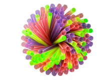 Swirl colorful straws Stock Photography