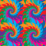 Swirl colorful symmetry seamless pattern Royalty Free Stock Photos