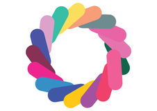 Swirl colors Stock Image