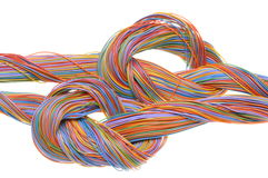 Swirl of computer network cables Stock Images